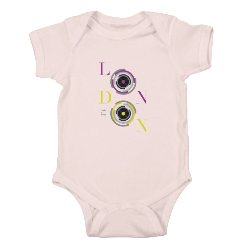 London always on Kids Baby Bodysuit by virbia's Artist Shop