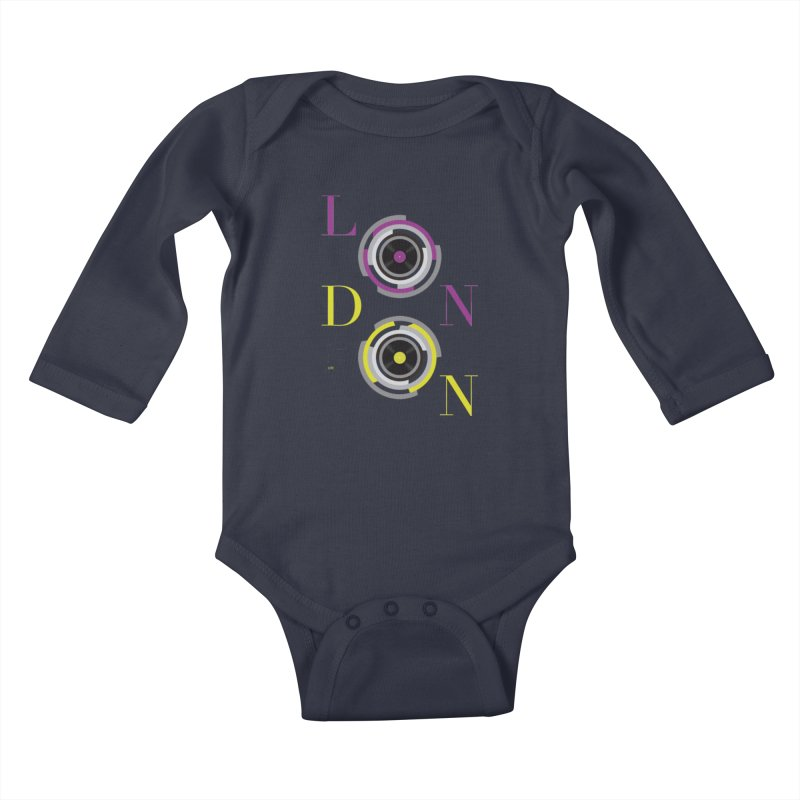 London always on Kids Baby Longsleeve Bodysuit by virbia's Artist Shop