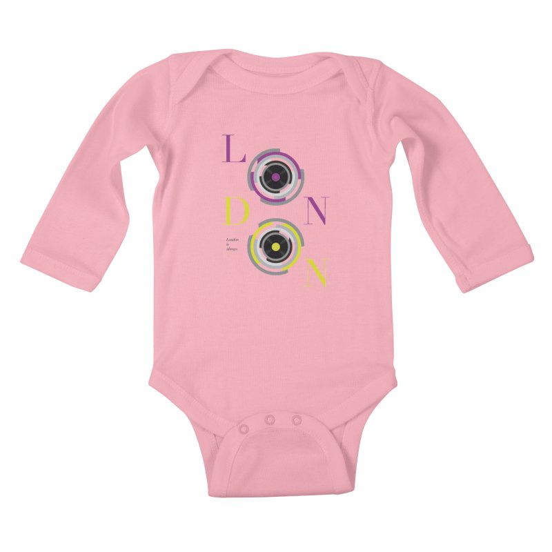 London always on Kids Baby Longsleeve Bodysuit by virbia's Artist Shop