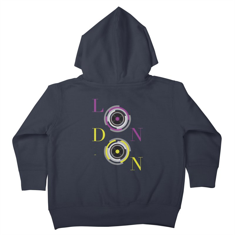 London always on Kids Toddler Zip-Up Hoody by virbia's Artist Shop