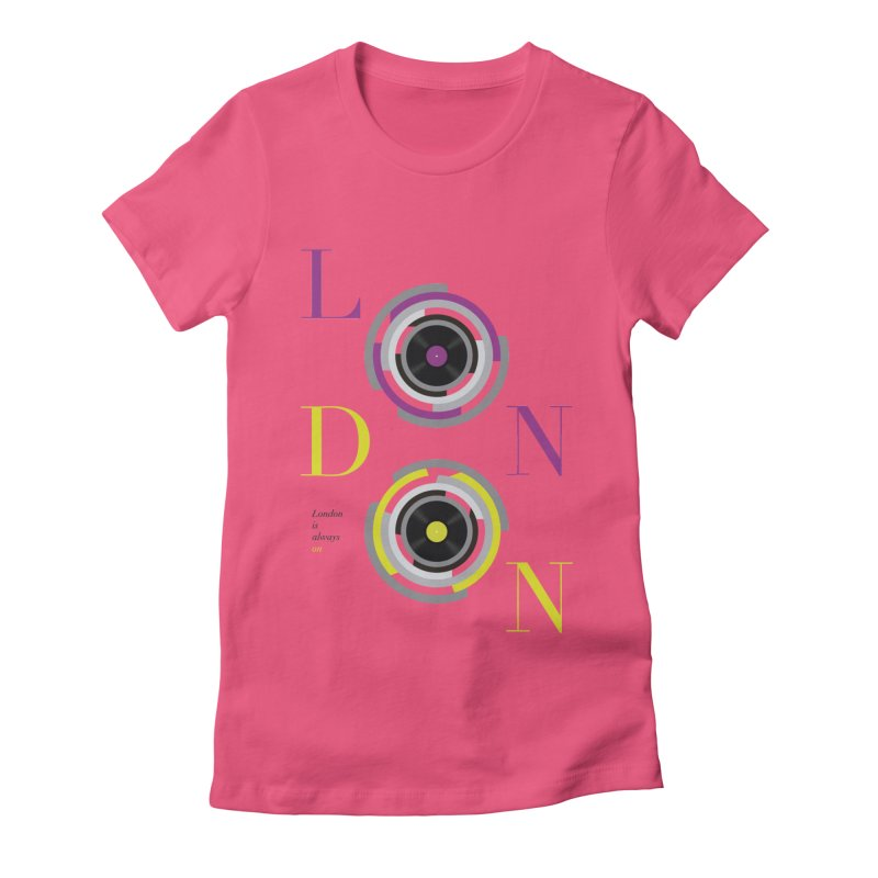 London always on Women's Fitted T-Shirt by virbia's Artist Shop