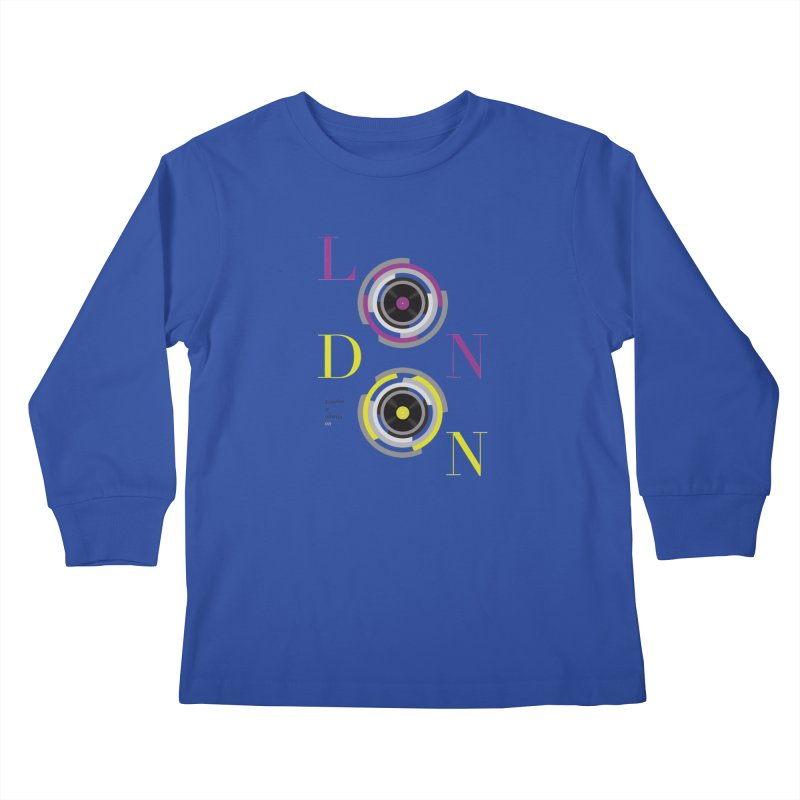 London always on Kids Longsleeve T-Shirt by virbia's Artist Shop