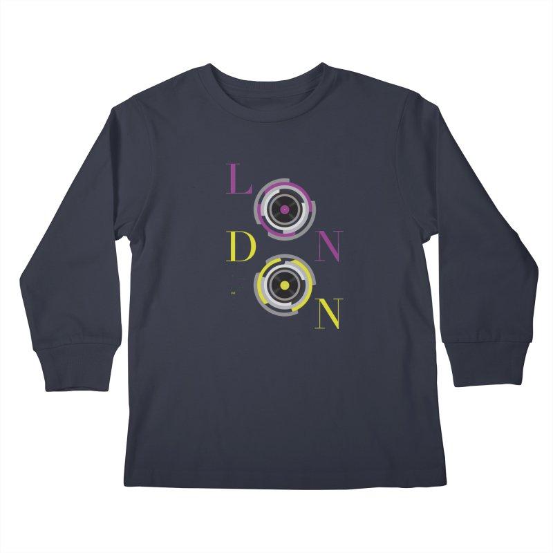 London always on Kids Longsleeve T-Shirt by virbia's Artist Shop