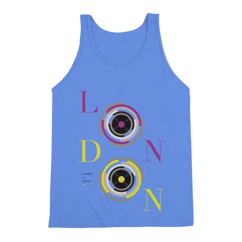London always on Men's Triblend Tank by virbia's Artist Shop