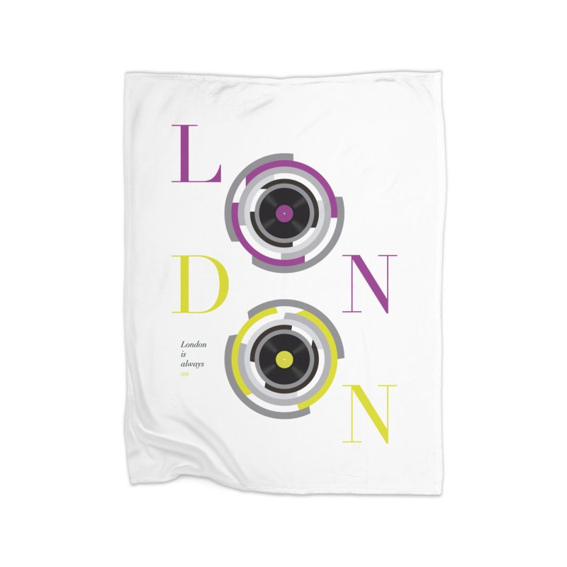London always on Home Blanket by virbia's Artist Shop