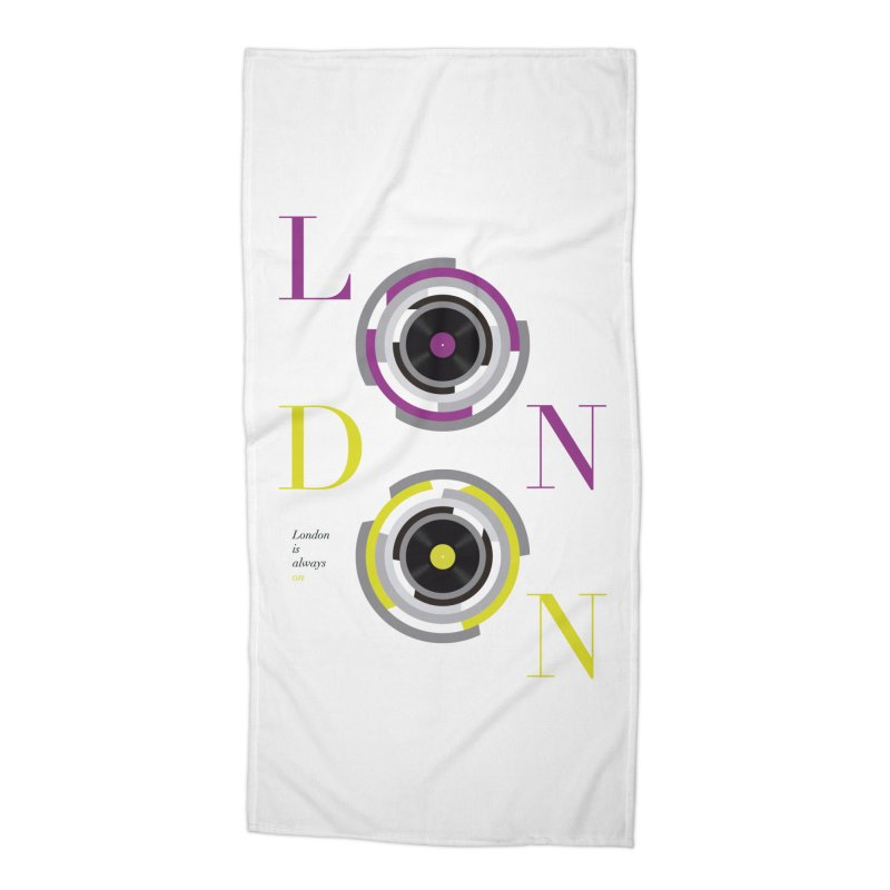 London always on Accessories Beach Towel by virbia's Artist Shop