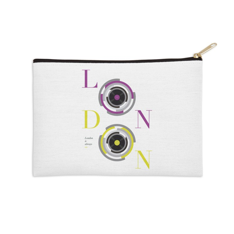 London always on Accessories Zip Pouch by virbia's Artist Shop