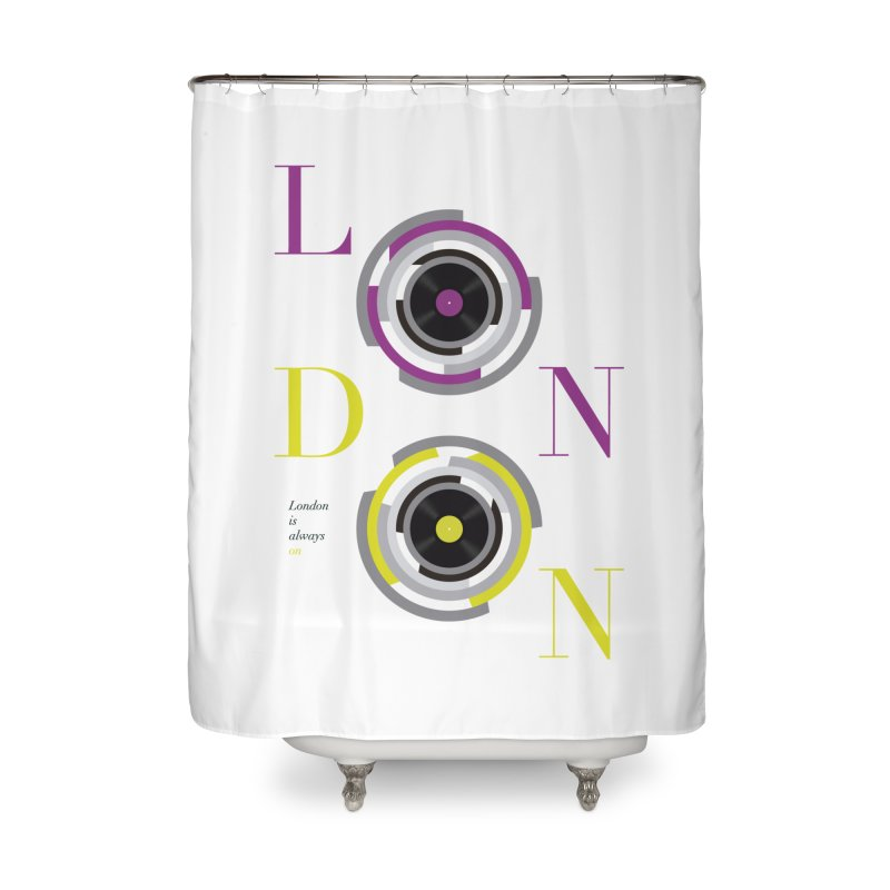 London always on Home Shower Curtain by virbia's Artist Shop