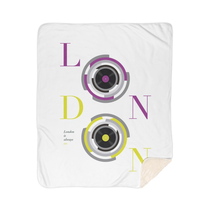 London always on Home Sherpa Blanket Blanket by virbia's Artist Shop