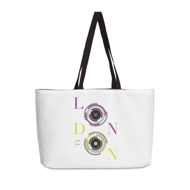 London always on Accessories Weekender Bag Bag by virbia's Artist Shop