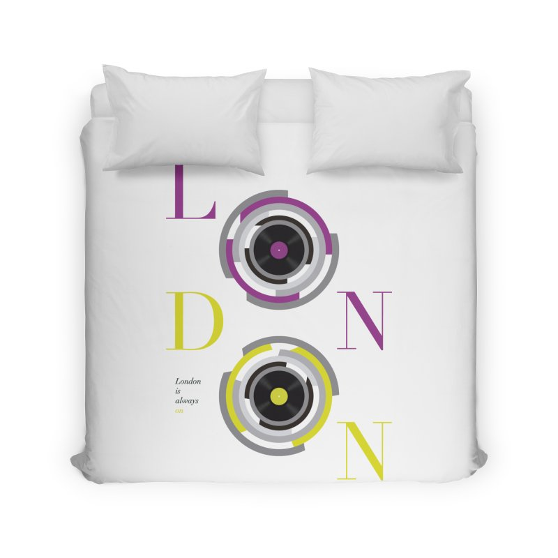 London always on Home Duvet by virbia's Artist Shop