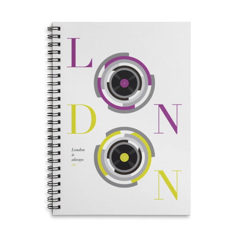 London always on Accessories Lined Spiral Notebook by virbia's Artist Shop