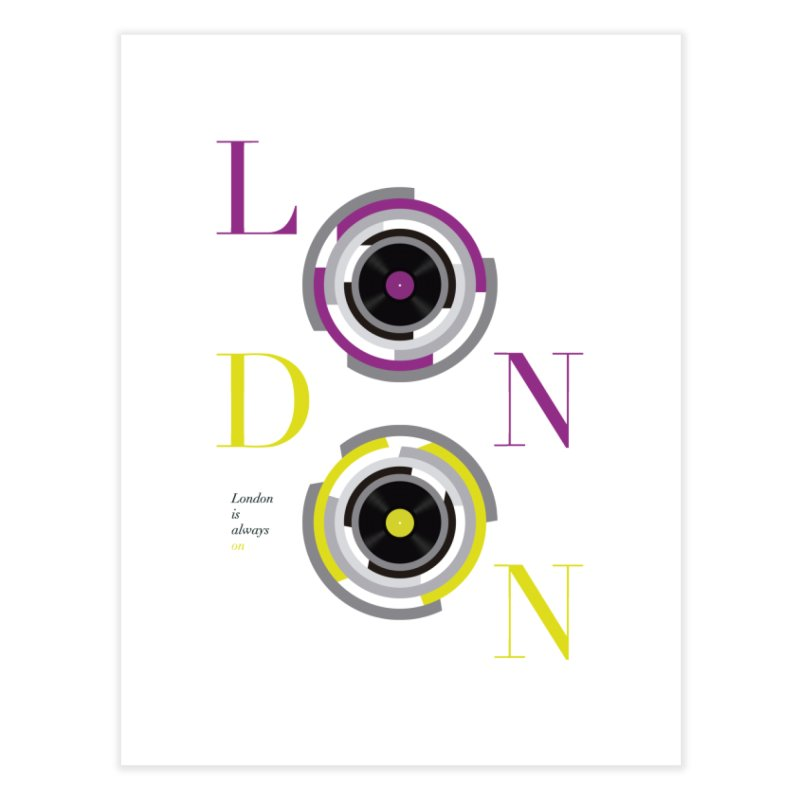London always on Home Fine Art Print by virbia's Artist Shop