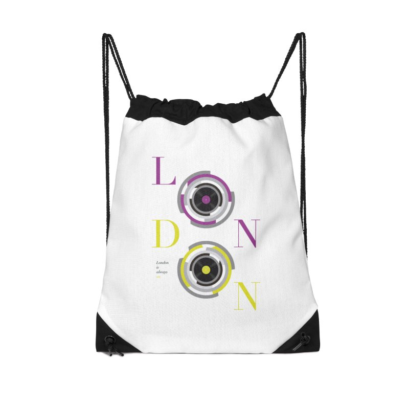 London always on Accessories Drawstring Bag Bag by virbia's Artist Shop