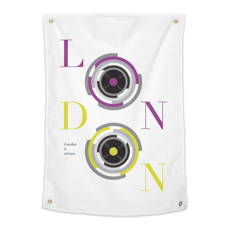 London always on Home Tapestry by virbia's Artist Shop