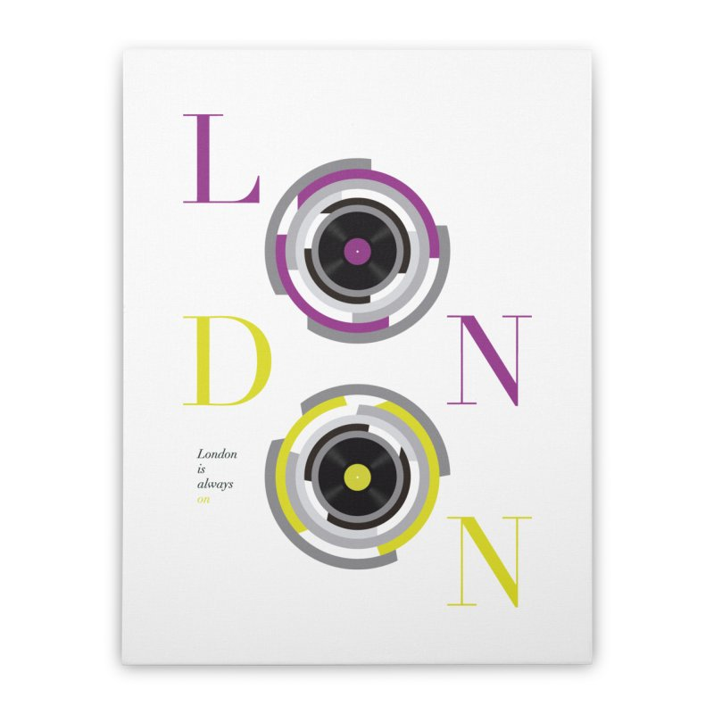 London always on Home Stretched Canvas by virbia's Artist Shop
