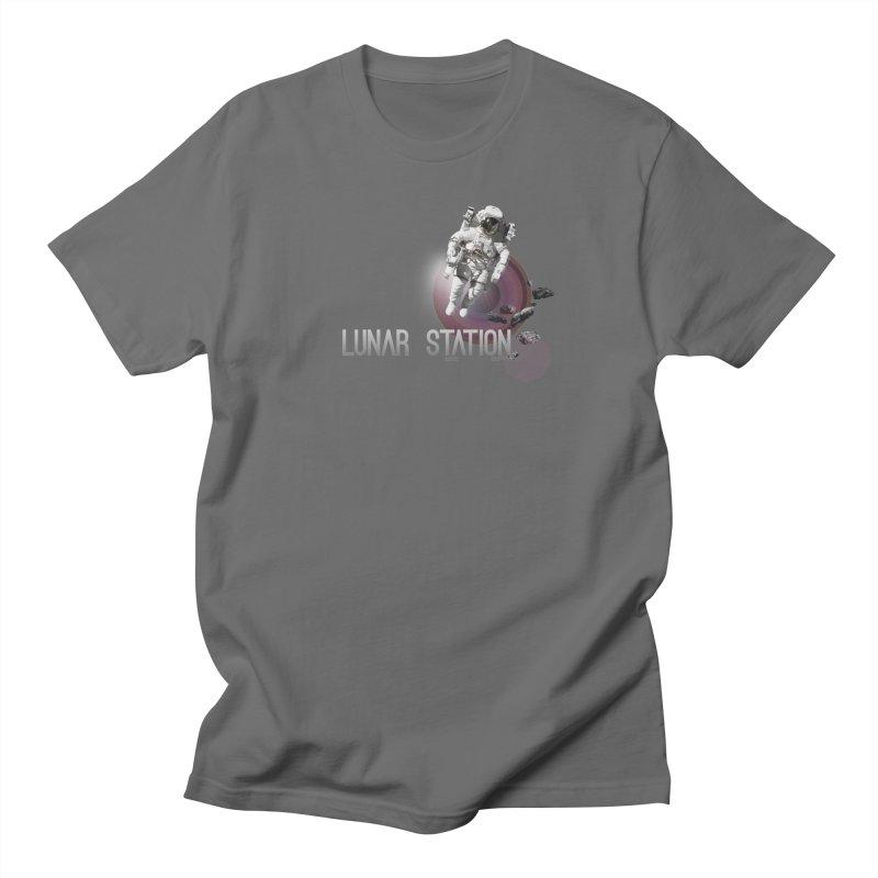 Lunar Station Men's T-Shirt by virbia's Artist Shop
