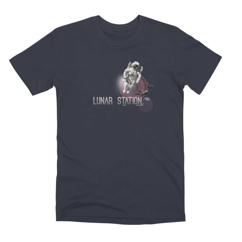 Lunar Station Men's Premium T-Shirt by virbia's Artist Shop