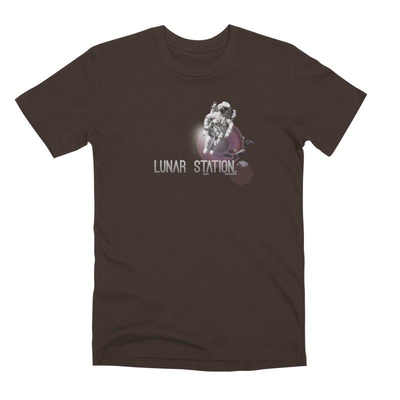 Lunar Station Men's Premium T-Shirt by virbia's Artist Shop