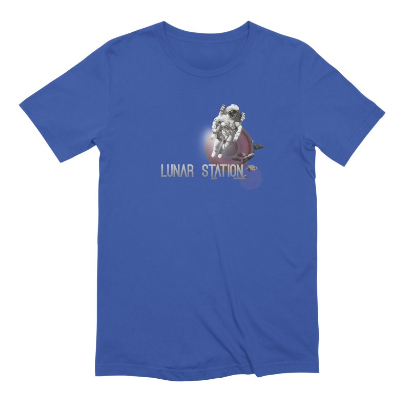 Lunar Station Men's Extra Soft T-Shirt by virbia's Artist Shop