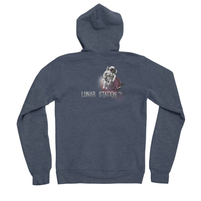 Lunar Station Men's Sponge Fleece Zip-Up Hoody by virbia's Artist Shop
