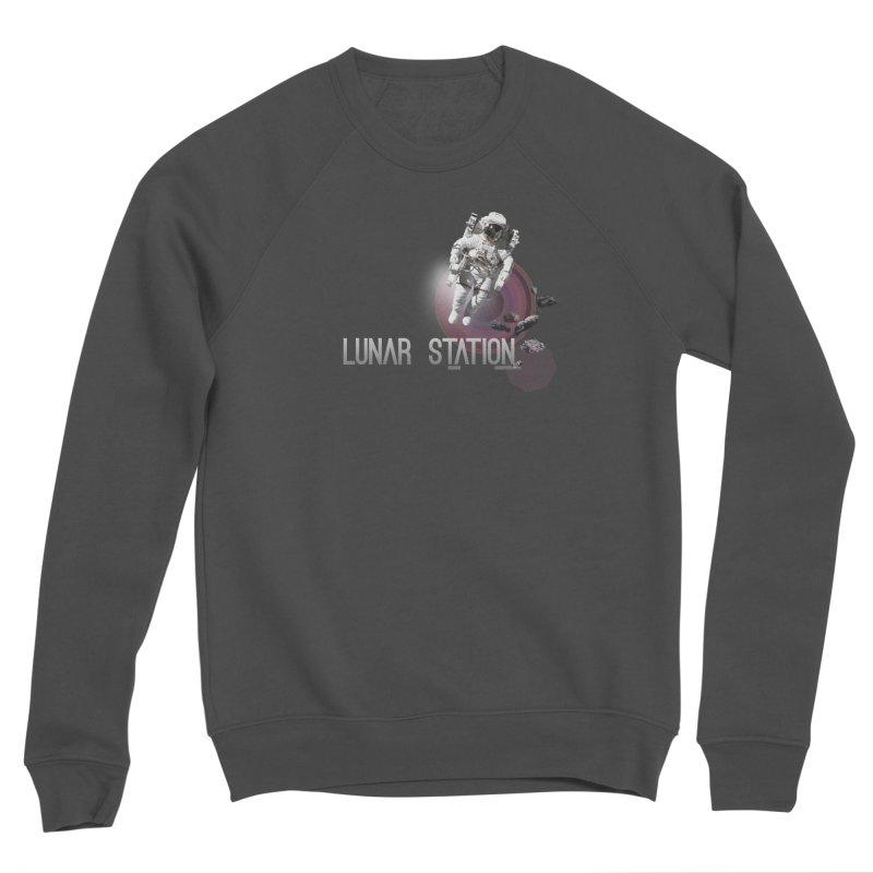 Lunar Station Men's Sponge Fleece Sweatshirt by virbia's Artist Shop