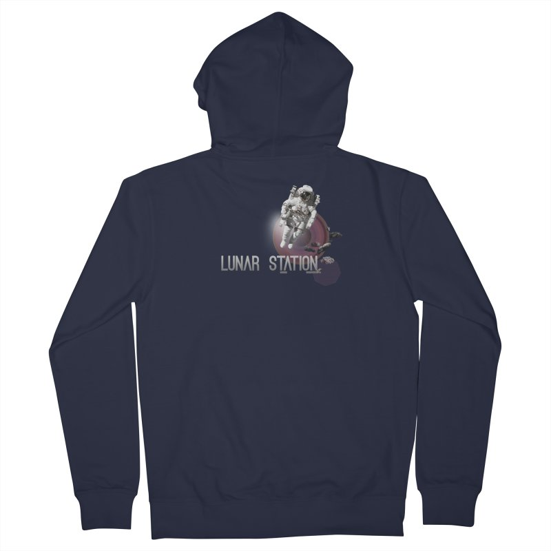 Lunar Station Men's Zip-Up Hoody by virbia's Artist Shop