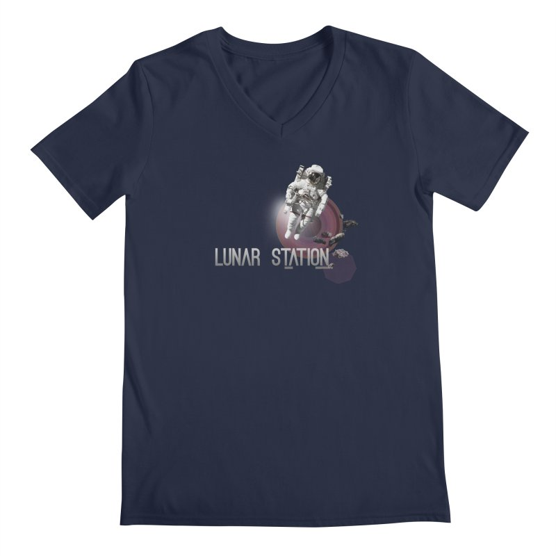 Lunar Station Men's V-Neck by virbia's Artist Shop