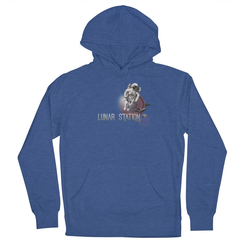 Lunar Station Men's French Terry Pullover Hoody by virbia's Artist Shop