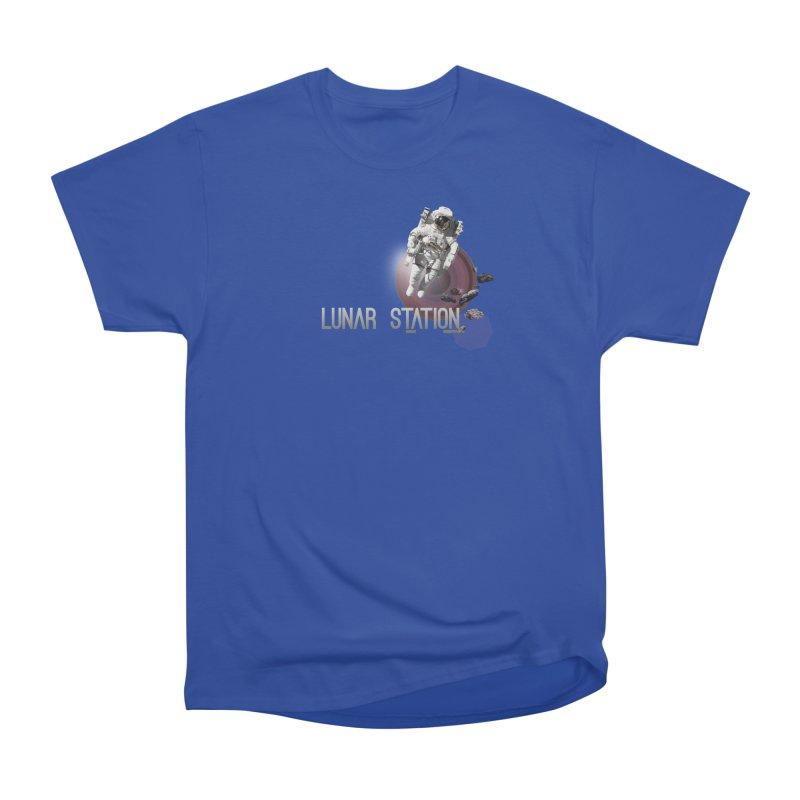 Lunar Station Men's Heavyweight T-Shirt by virbia's Artist Shop