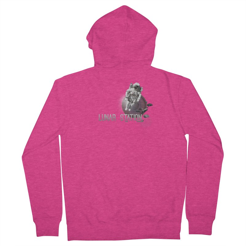 Lunar Station Women's French Terry Zip-Up Hoody by virbia's Artist Shop