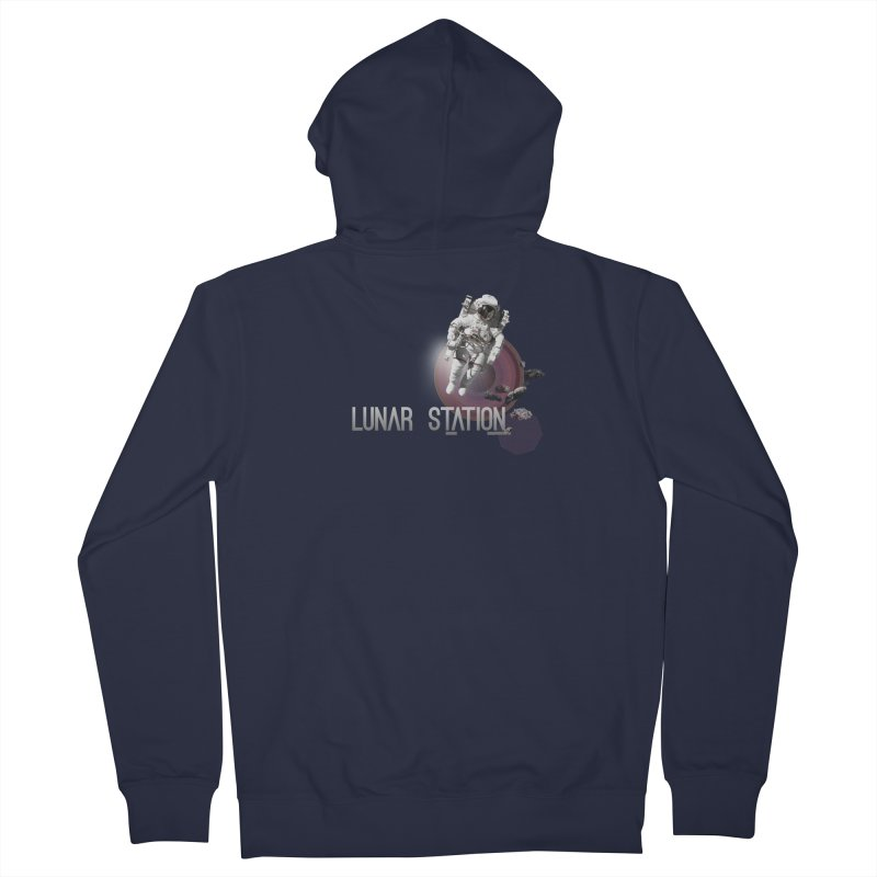 Lunar Station Men's French Terry Zip-Up Hoody by virbia's Artist Shop