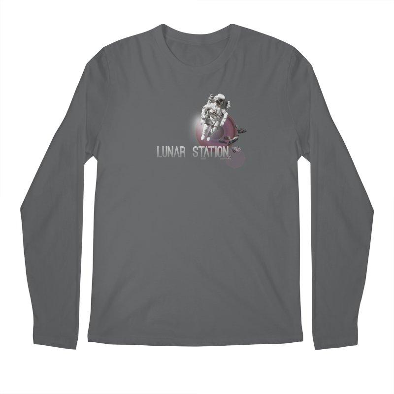 Lunar Station Men's Regular Longsleeve T-Shirt by virbia's Artist Shop