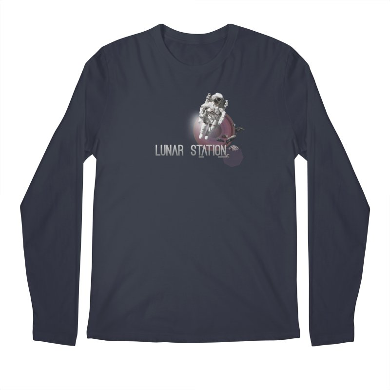 Lunar Station Men's Regular Longsleeve T-Shirt by virbia's Artist Shop