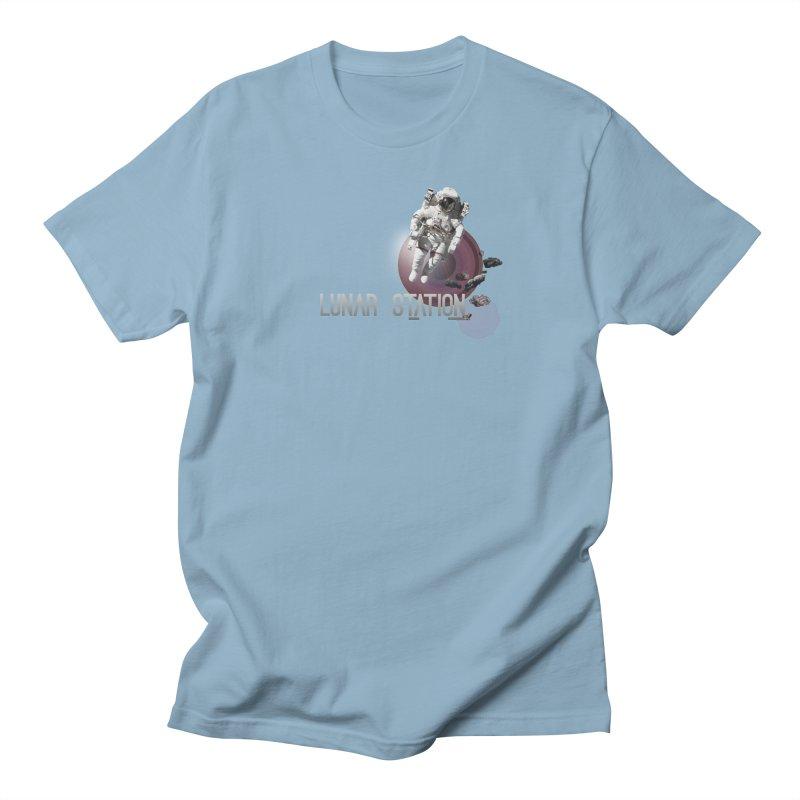 Lunar Station Men's Regular T-Shirt by virbia's Artist Shop