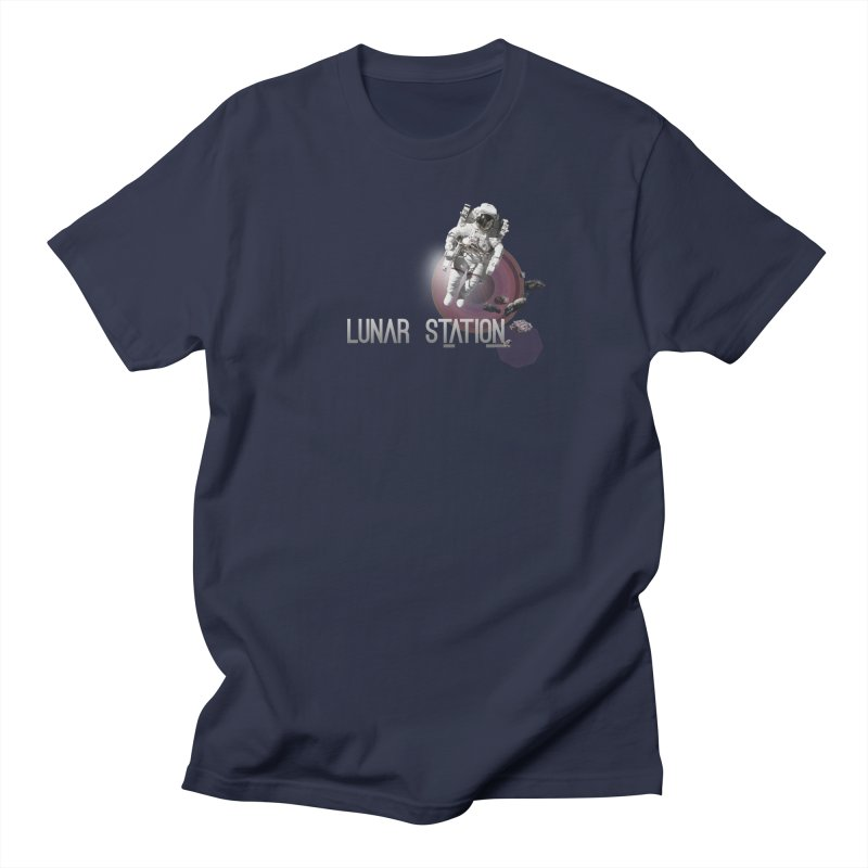 Lunar Station Men's T-Shirt by virbia's Artist Shop