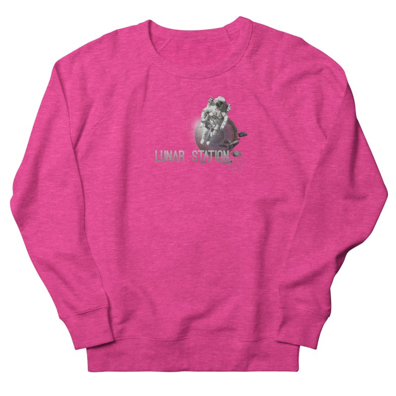 Lunar Station Women's French Terry Sweatshirt by virbia's Artist Shop