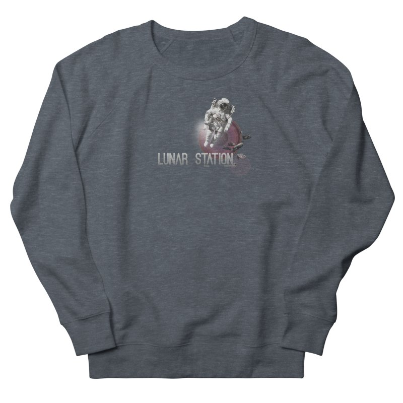 Lunar Station Men's Sweatshirt by virbia's Artist Shop