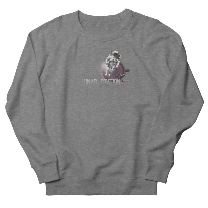 Lunar Station Men's French Terry Sweatshirt by virbia's Artist Shop