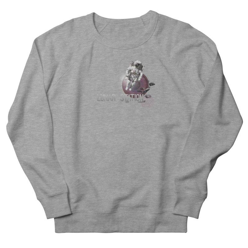 Lunar Station Men's French Terry Sweatshirt by virbia's Artist Shop