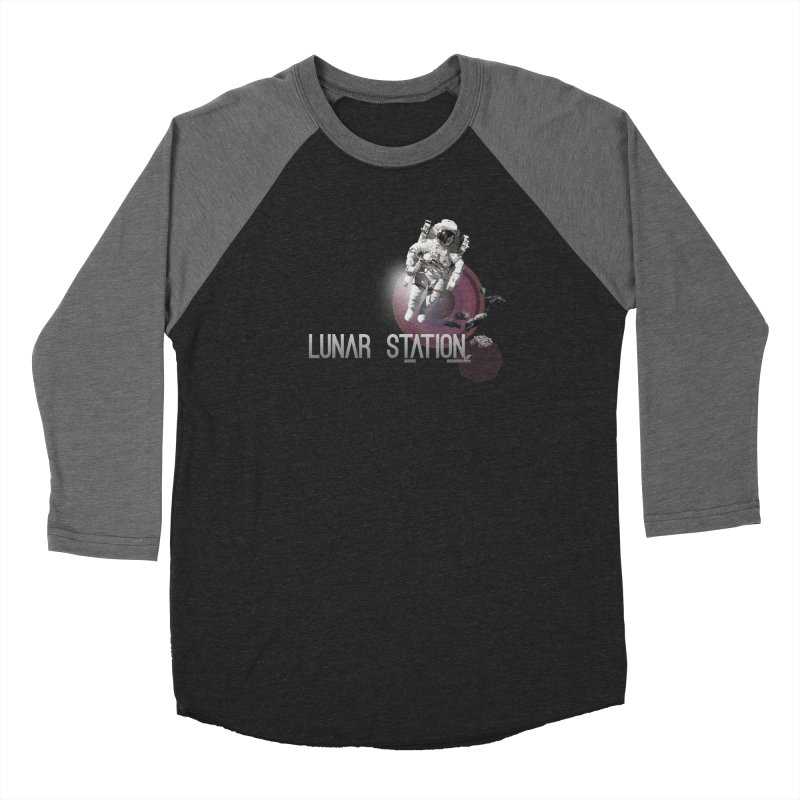 Lunar Station Women's Baseball Triblend Longsleeve T-Shirt by virbia's Artist Shop