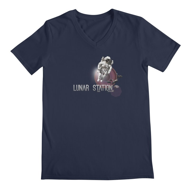 Lunar Station Men's Regular V-Neck by virbia's Artist Shop