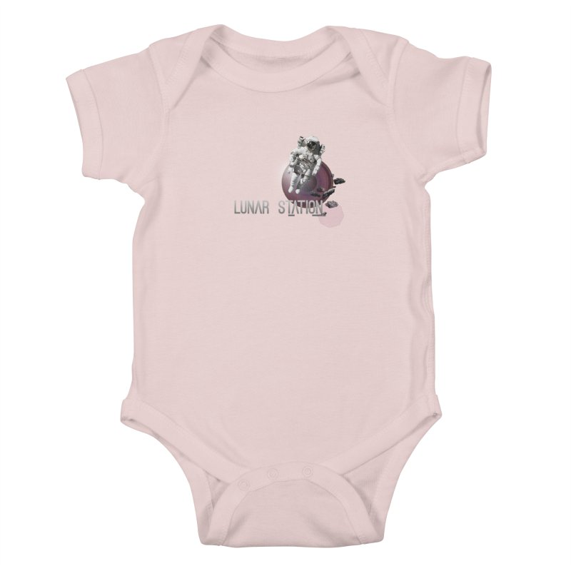 Lunar Station Kids Baby Bodysuit by virbia's Artist Shop