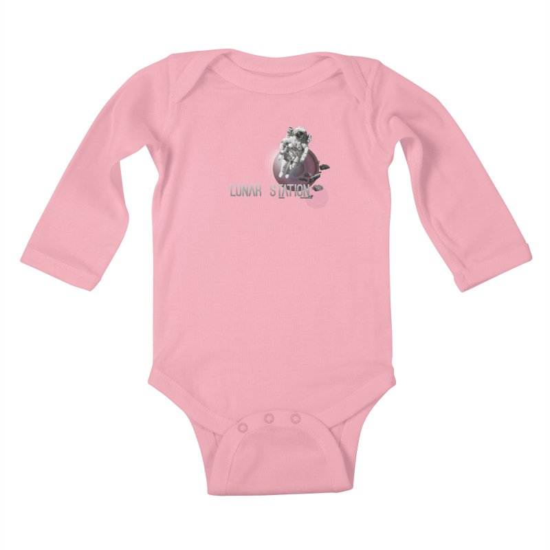 Lunar Station Kids Baby Longsleeve Bodysuit by virbia's Artist Shop