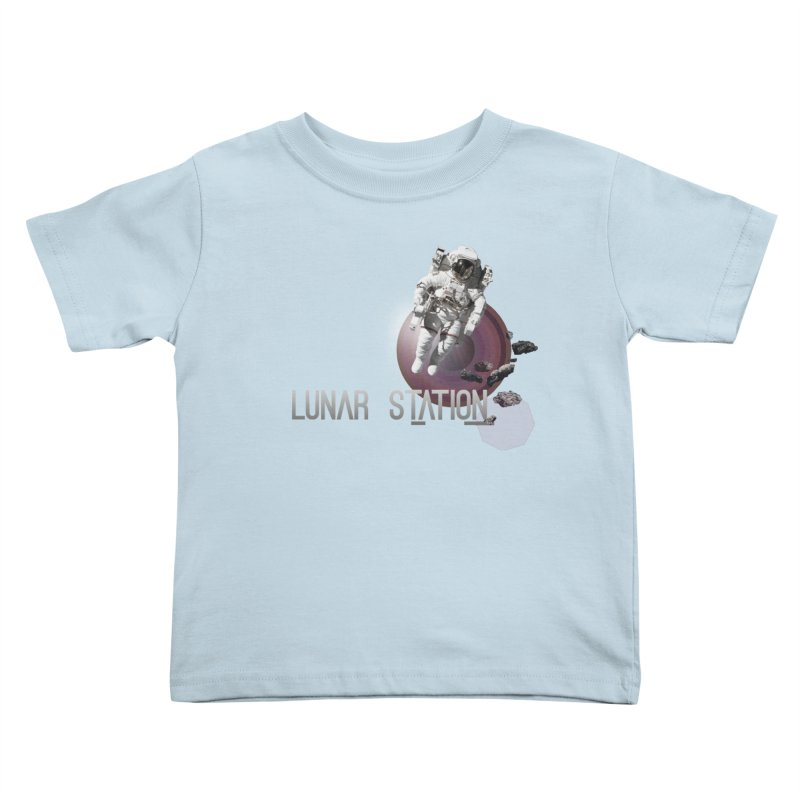 Lunar Station Kids Toddler T-Shirt by virbia's Artist Shop