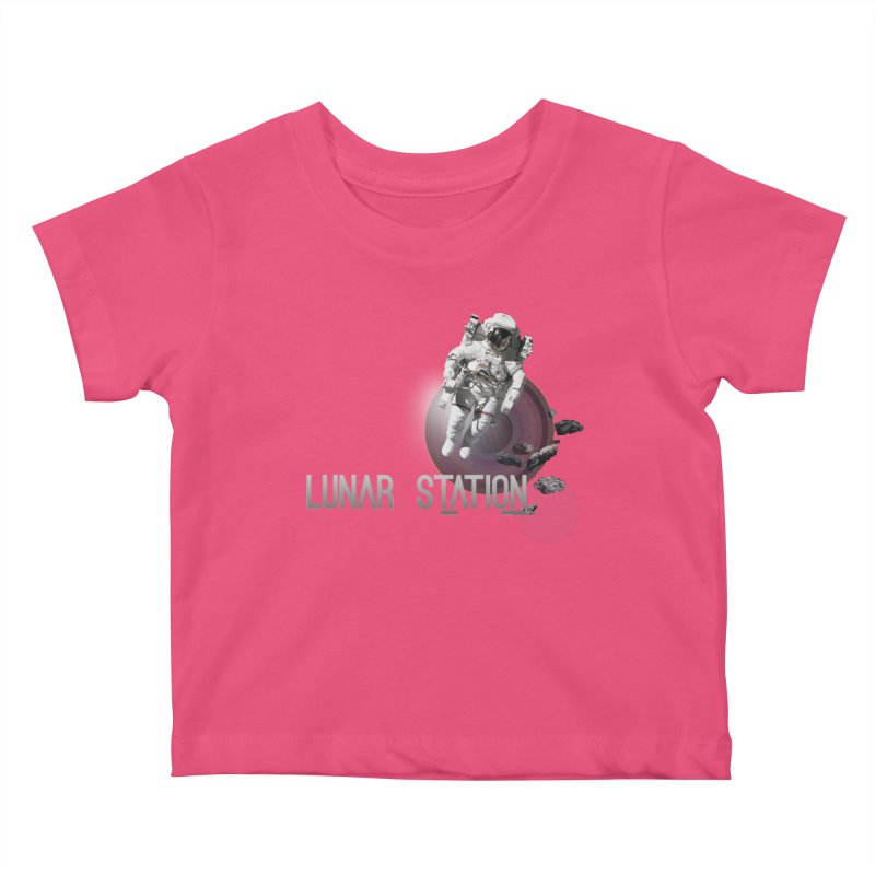 Lunar Station Kids Baby T-Shirt by virbia's Artist Shop