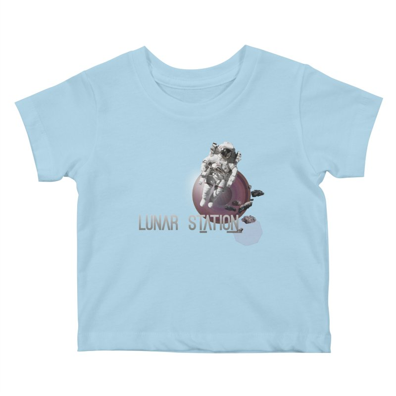 Lunar Station Kids Baby T-Shirt by virbia's Artist Shop