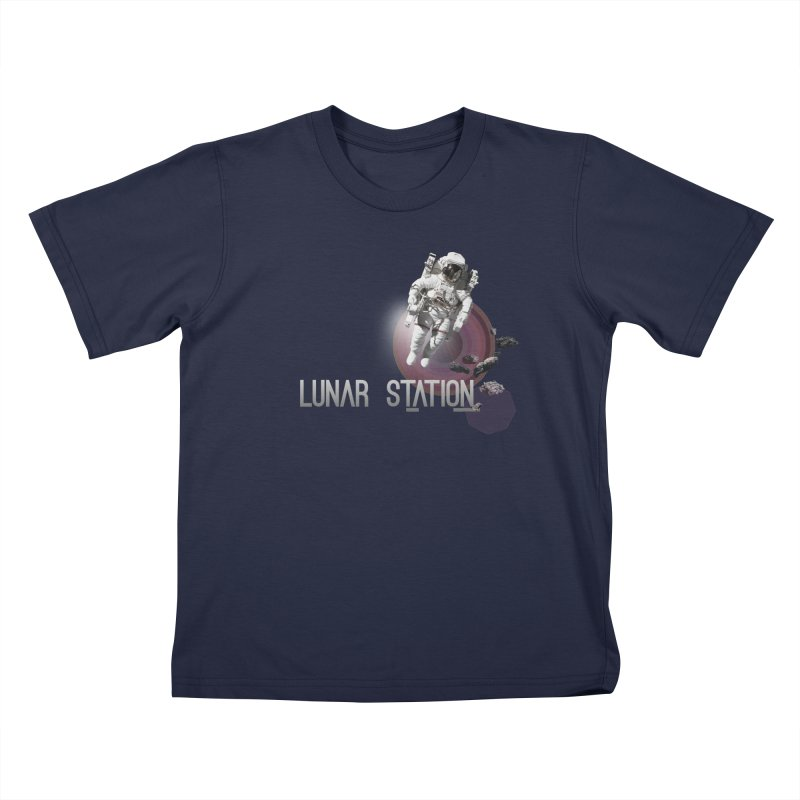 Lunar Station Kids T-Shirt by virbia's Artist Shop