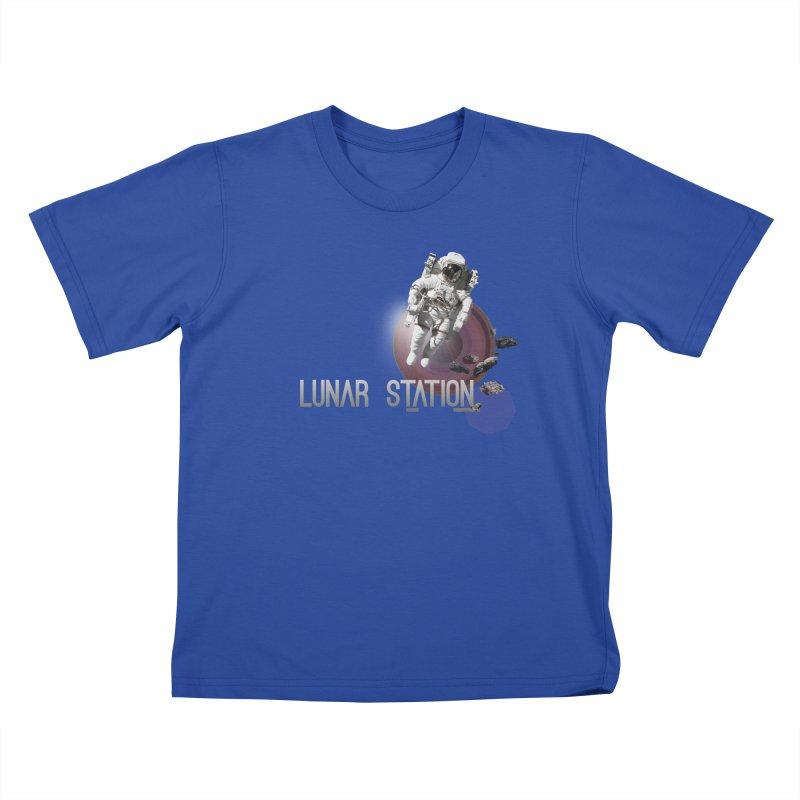Lunar Station Kids T-Shirt by virbia's Artist Shop