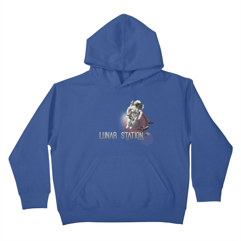 Lunar Station Kids Pullover Hoody by virbia's Artist Shop